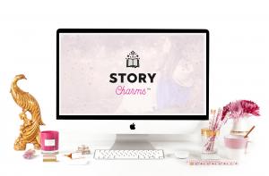 Story Charms Computer Mockup